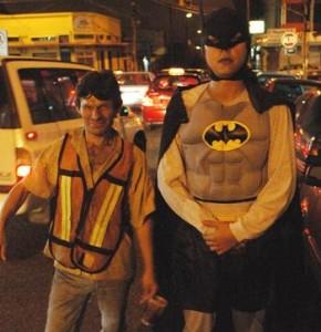 Batman giving this Wachiman a hand!
