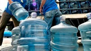 A supply of bottled water is one solution to the water rationing that will see taps dry from 6 up to 12 hours or more daily in many areas