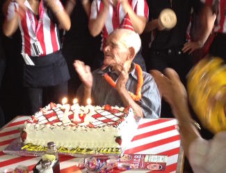 Chepito Celebrating His 112th At Fridays!