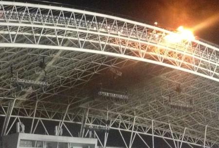 stadium-roof-fire