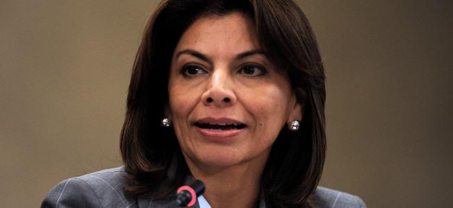 Costa Rican President Laura Chinchilla g