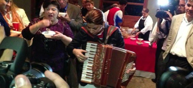 [Video] Doña Laura Tries Her Hand With The Accordion