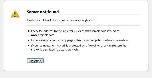 BLOG: Google Server Not Found?