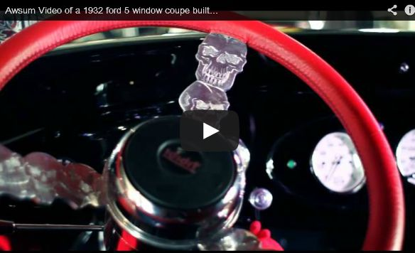 QTV: Awsum Video of a 1932 Ford 5 Coupe Built Buy Costa Rica Hot Rods