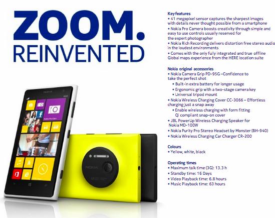 Nokia Lumia 1020 Packs 41-Megapixel Whopper Camera