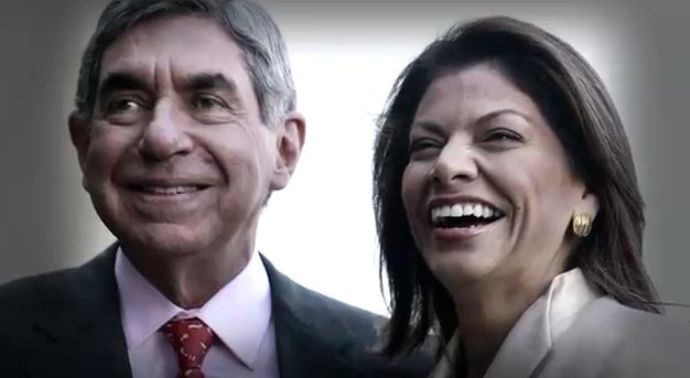 Oscar Arias and Laura Chinchilla in better times.