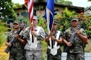 US and Honduran troops in Tegucigalpa,