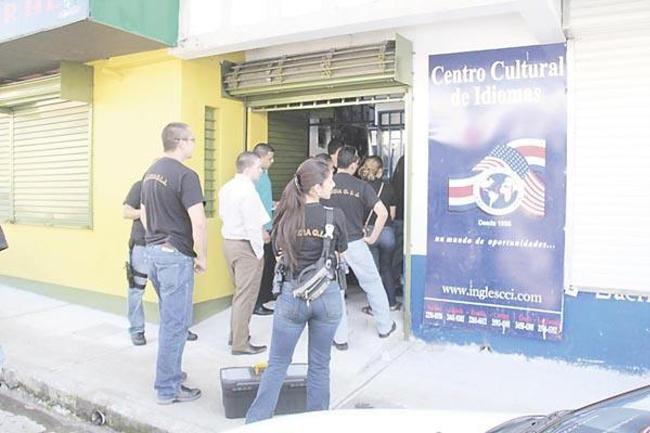 OJI raided two languages schools on Monday. Photo: Diario Extra