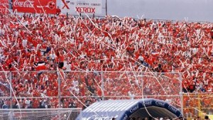 The rowdy fans of the Saprissa