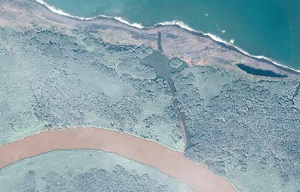 Area In Disptue Between Costa Rica and Nicaragua