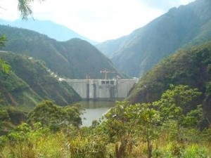 The Pirris Hydroelectric Dam in the Southern part of San Jose province, Costa Rica