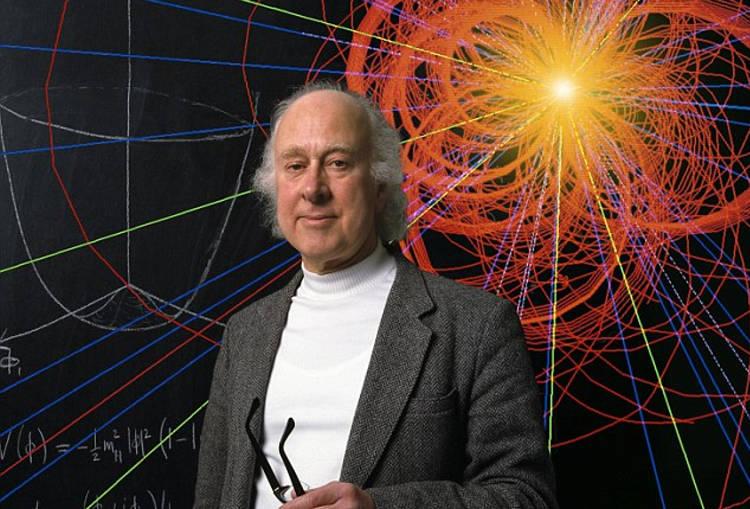 Prof. Peter Higgs with Event Simulation, Edinburgh, Scotland, Britain - 1988