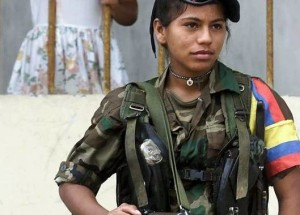 FARC female fighter. Archive photo.