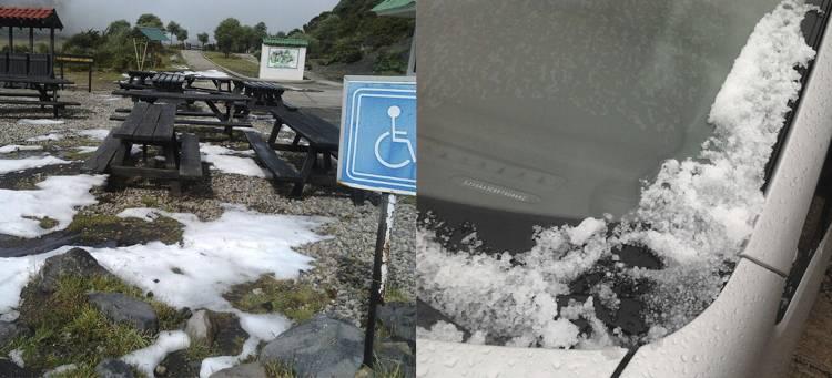 """Irazú Volcano experience""""hail"""" on Friday"""