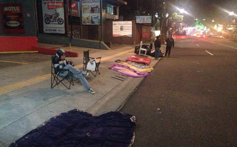 Some camped out Friday night to ensure themselves a great spot. Photo from Facebook.