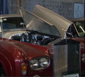 Authorities say the engine in the confiscated Rolls Royce is not the original.