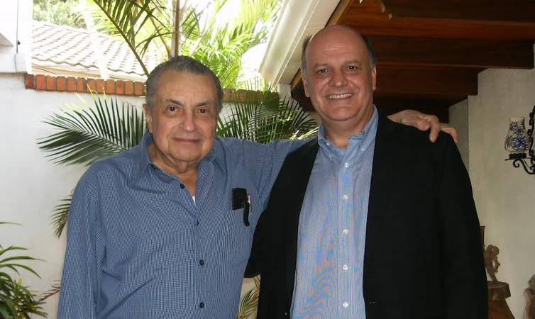 Former president Abel Pacheco (left) with PUSC presidential candidate, Rodolfo Piza.