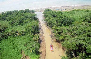 Nicaragua opened the canals to gain access to the Caribbean sea from the San Juan River. Courtesy of Casa Presidencial