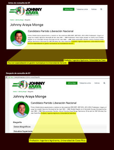 EF published before and after screenshots of the website. Click on image to enlarge.
