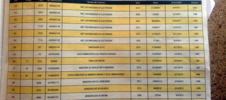 The list includes the plate number and the full name of the registered owner of the vehicle