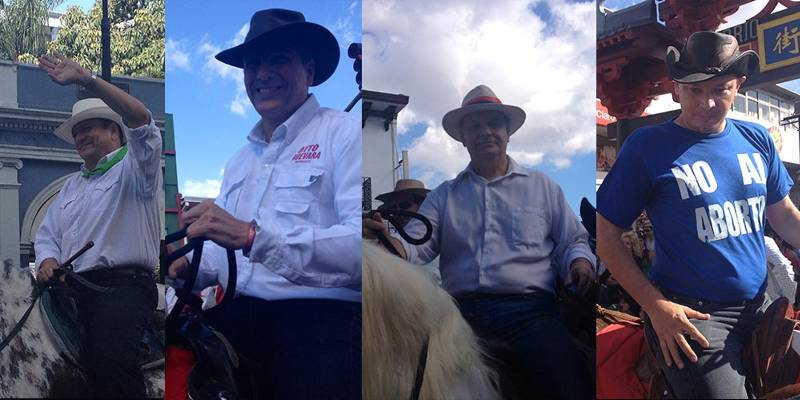 Four presidential candidates participated in the annual Tope in San José.
