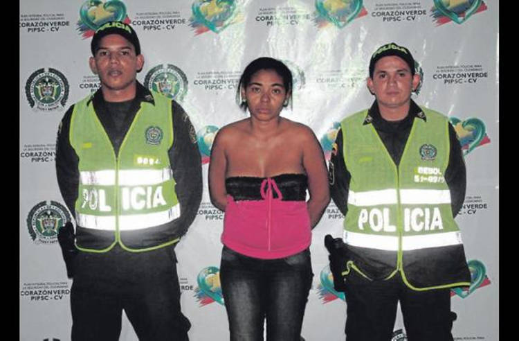 """Colombian police caputred """"La Negra"""" who played an important role in the activities of Los Urabeños."""