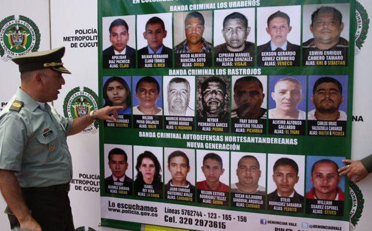 The Los Urabeños organization according to Colombian authorities
