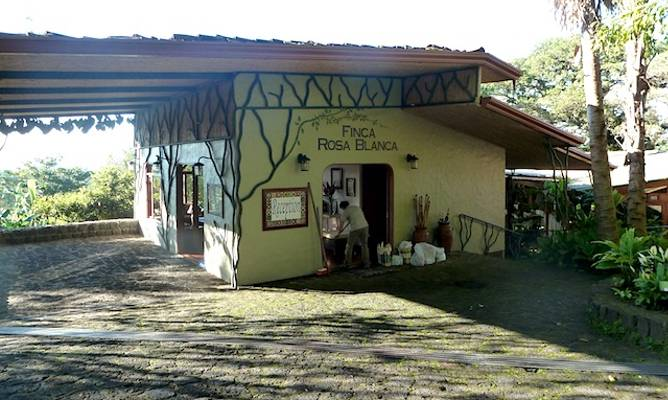 Award-winning Finca Rosa Blanca is a pioneering sustainable boutique hotel and coffee farm located in the headlands of Costa Rica's Central Valley not far from San José. Photo courtesy of Ethan Gelber