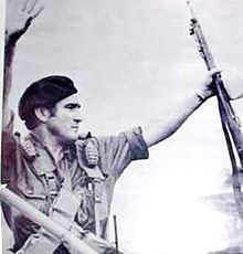Edén Pastora on Aug 25, 1978, boarding a Venezuelan C-130 with 19 operatives, five hostages and 80 released political prisoners,