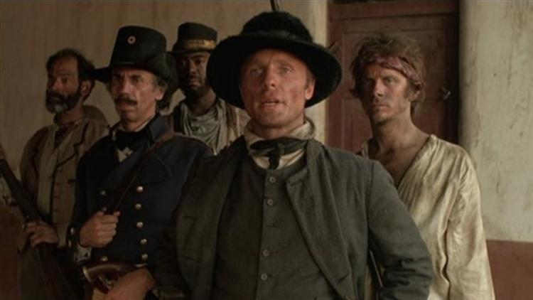 """Ed Harris plays the role of William Walker in """"Walker"""" , the story of and the coup d'etat he staged in Nicaragua in 1856 at the behest of the wealthy industrialist Cornelius Vanderbilt (Peter Boyle), who needed the crucial trade route 'liberated' in order to build a dam there."""