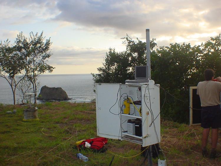 GPS station on Nicoya Peninsula. Photograph courtesy of Marino Protti.