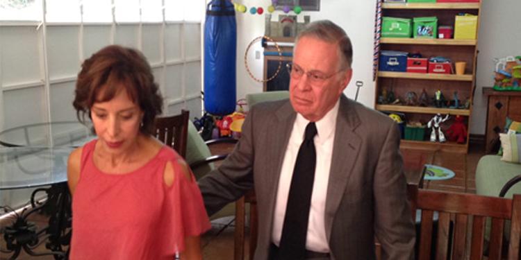 Former president of Costa Rica Miguel Ángel Rodríguez Echeverría (1998-2002) and his wife Lorena Clare Facio.