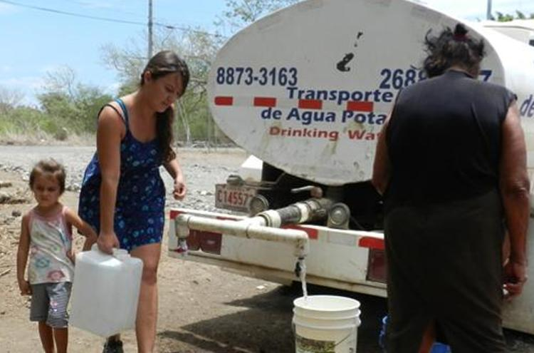 Tanker trucks are used in some areas to alleviate the water shortage