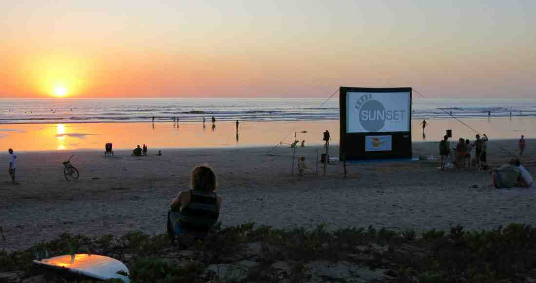 Catch a Movie on the Beach in Guiones