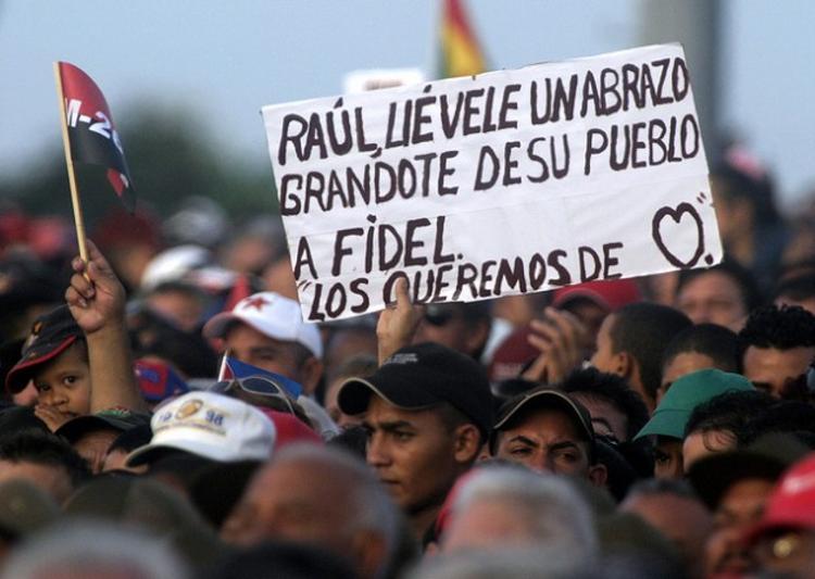 A rally in Holguín, Cuba. Credit: Jorge Luis Baños/IPS