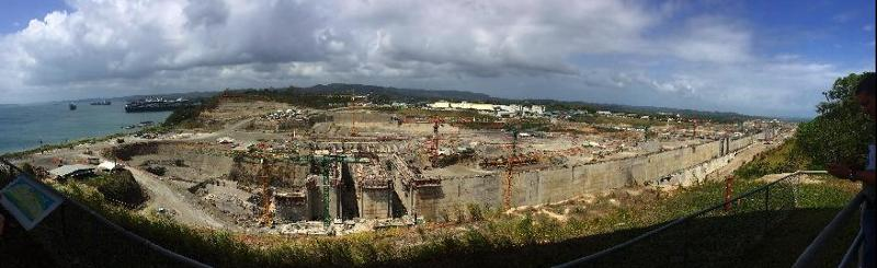[Photos] View of abandoned expansion project of Panama Canal