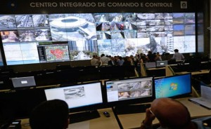 The Command and Control Integrated Center (CICC) in Rio de Janeiro will play a key role in providing security throughout the World Cup, which runs from June 12 to July 13. (Vanderlei Almeida/AFP)