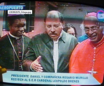 Ortega Alive and Well, Appeared In Public Monday Night To Greet Arrival From Rome Of Nicaragua's New Cardinal