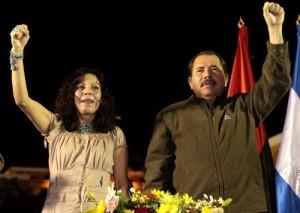 Ortega with his wife, Rosario Murillo