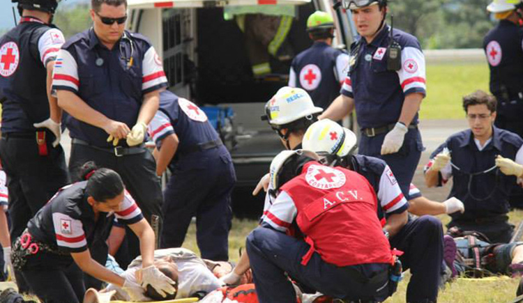 The Cruz Roja (Red Cross) is the first line response in emergencies in Costa Rica.