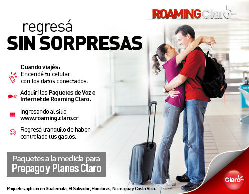 Claro Offers Roaming Without Surprises