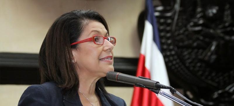 Education Minister (ministra de Educación), Sonia Marta Mora