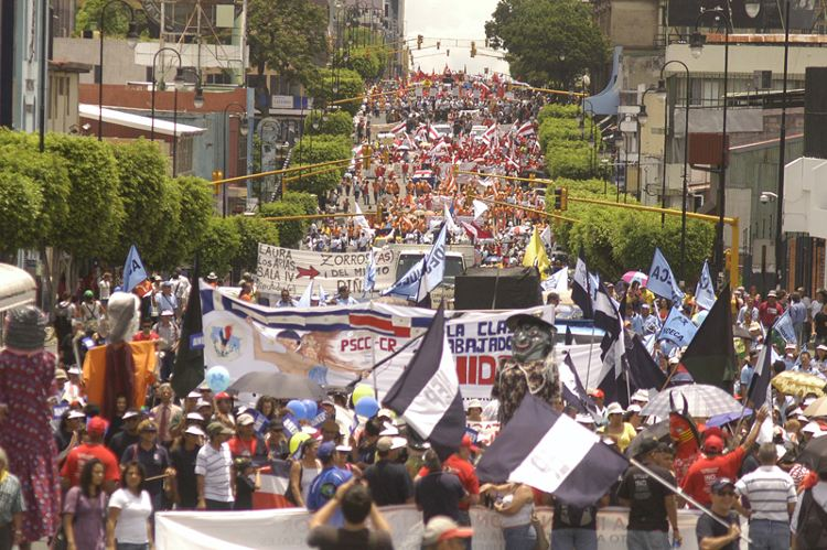 Archive photo of May 1 protests