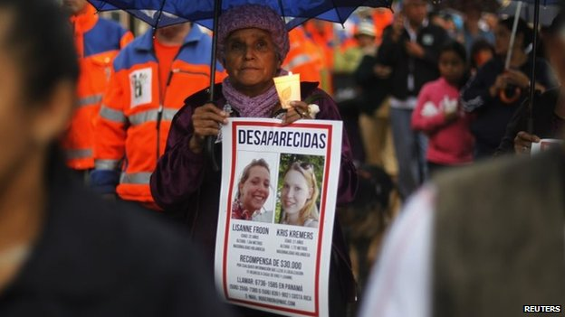 Residents of Boquete were shocked by the women's disappearance and held vigils in the town