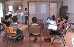 Photo: Costa Rica children in class from Biendemujer.