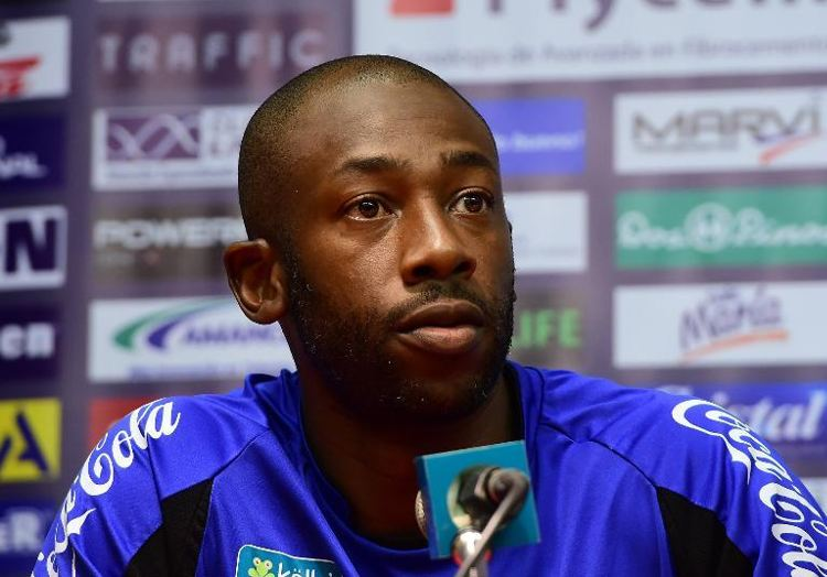 Costa Rica's assistant coach Paulo Wanchope listens to a journalist's questions during a press conference after a training session in Santos, on June 16, 2014 (AFP Photo/Ronaldo Schemidt)