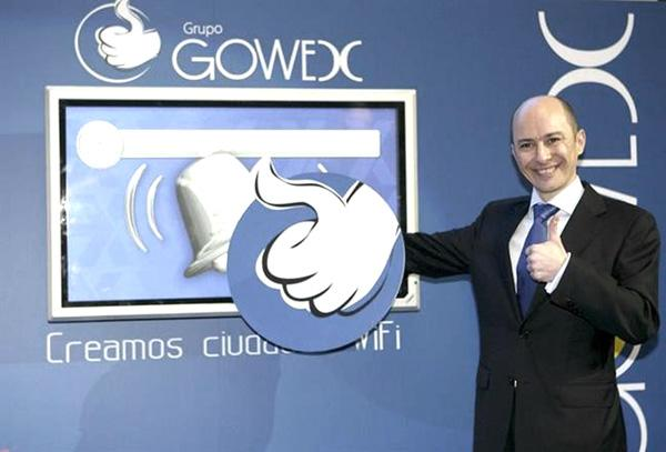 Genaro Garcia, founder of Gowex, questioned in Spain for fraud. His wife, Costa Rican Florence Maté, is member of the board.