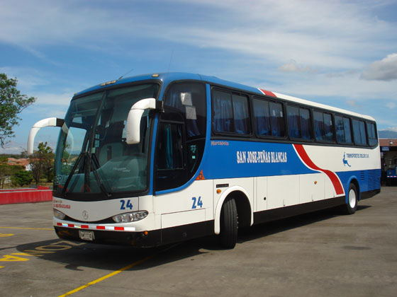 Deldu is the concession holder for the San José - Peñas Blancas (with stops in Liberia) bus route.