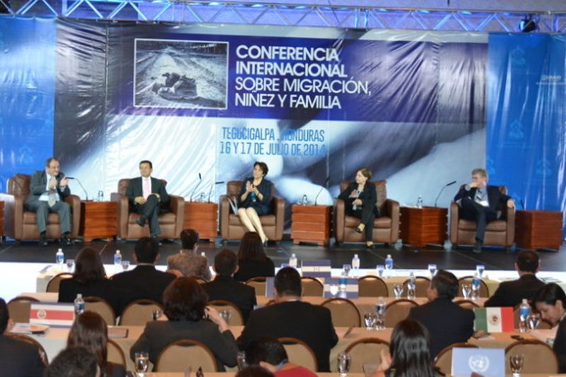 At the conclusion of the International Conference on Migration, Childhood and Family, civil society organisations called for migrants to be seen as human beings rather than just statistics in official files. Credit: Casa Presidencial de Honduras