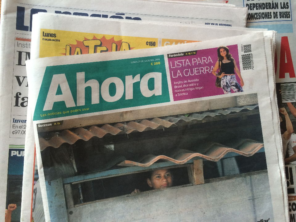 """""""Ahora"""", a new newspaper launched this morning in Costa Rica."""